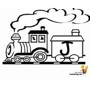 Toy Train Christmas Alphabet  Free Letters