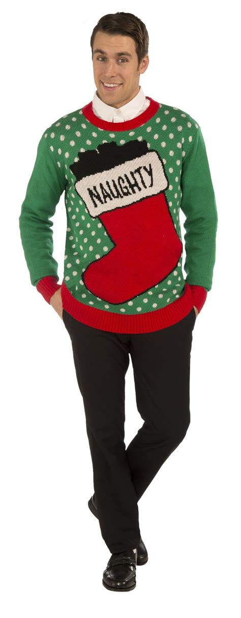 naughty stocking ugly christmas sweater adult stockings