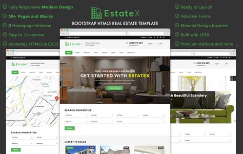 30 Free Bootstrap Templates To Download In 2018 Best Real Estate Web Templates