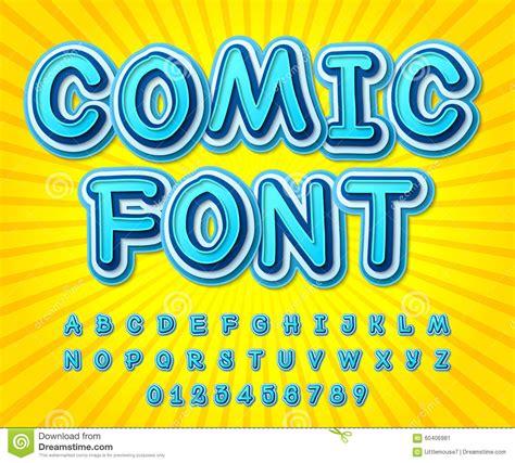font pop art blue high detail comic font alphabet comics pop art