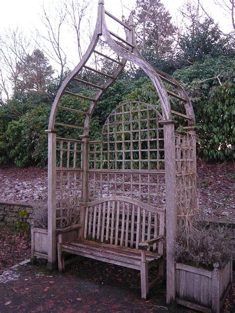 bench with trellis trellis arch with bench garden that s were it all