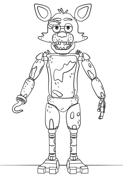 Fnaf 7 Coloring Pages by Fnaf Foxy Coloring Pages Printable Coloring For 2018