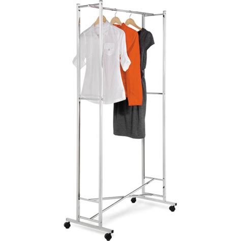 Foldable Garment Rack by Folding Chrome Garment Rack In Clothing Racks And Wardrobes