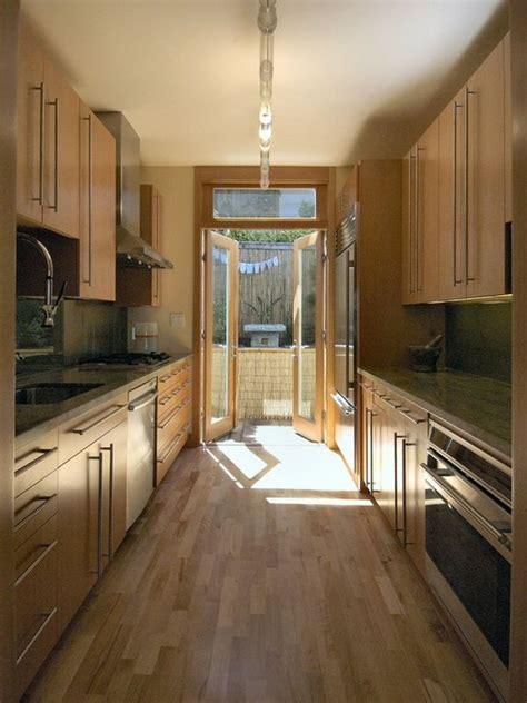narrow kitchen kind and function in a galley kitchen decor advisor