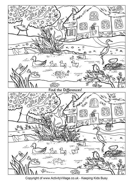 1 picture puzzles for a find the differences book activity books for ages 4 8 volume 1 books pond find the differences