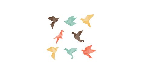 Origami Graphic - origami birds free vector and png the graphic cave