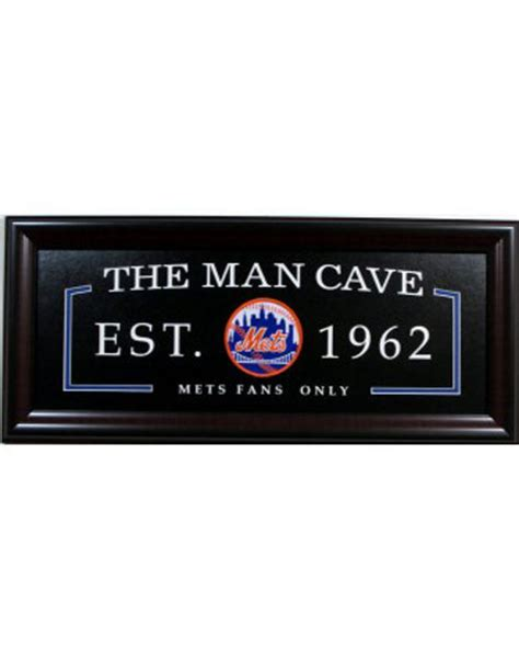 unique gifts for mets fans ny mets fans only man cave sign framed ny mets logo shea