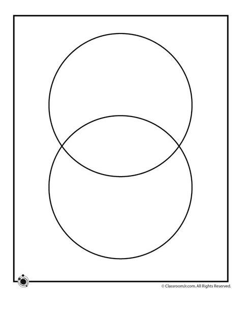free printable venn diagram template 2 circles printable blank venn diagrams 2 circle venn diagram