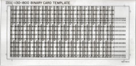 computer punch card template history which programming systems used object files on