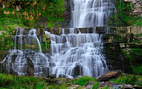 Large Jungle Wall Stickers download wallpaper 3840x2400 waterfall stream rocks