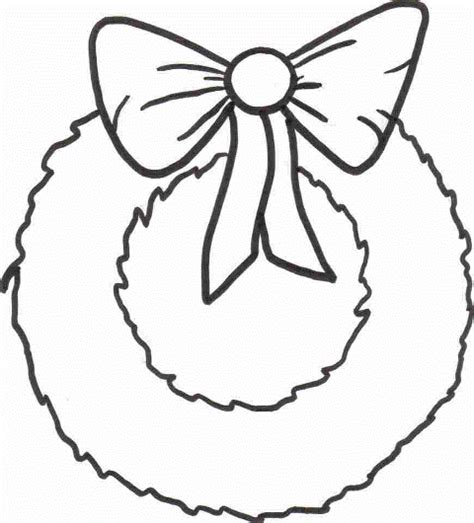 wreath bow coloring page printable wreath coloring sheet