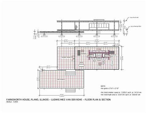 mies van der rohe floor plan farnsworth house mies van der rohe 1951 floor plan