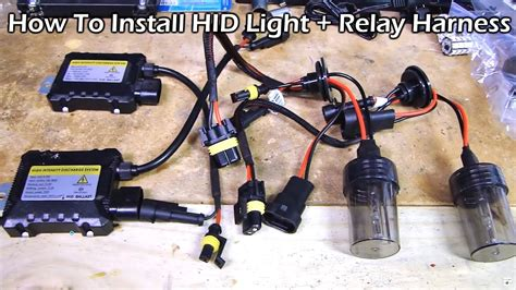 How To Install Hid Kit Light With Relay Harness Youtube