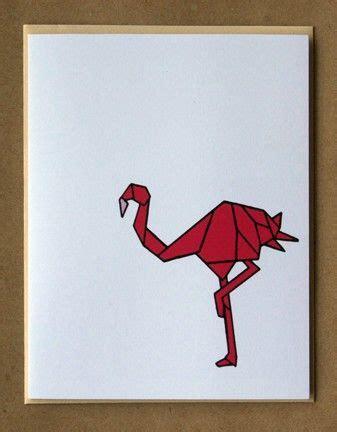 Origami Flamingo - origami flamingo card