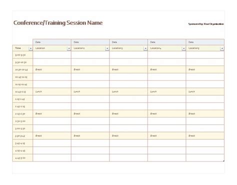 5 day calendar template excel 5 day schedule template calendar template 2016