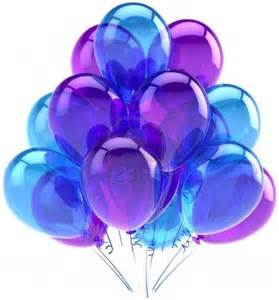 balloons birthday blue purple translucent