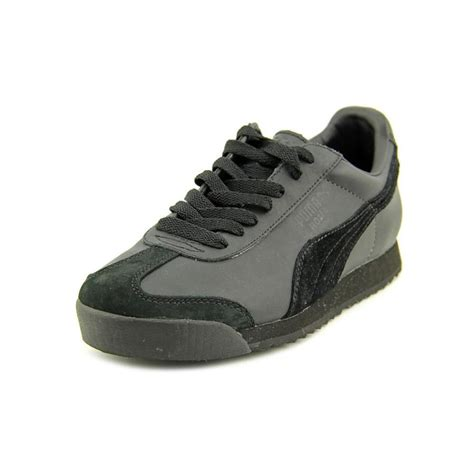 black athletic shoes roma leather black athletic sneakers shoes