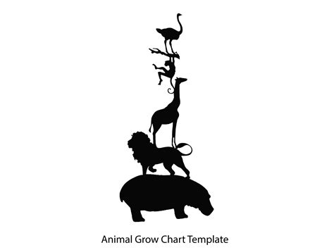 Animal Silhouettes Templates make an animal silhouette growth chart hgtv