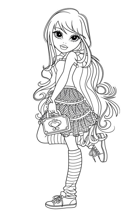 moxie girlz coloring pages1 coloring kids