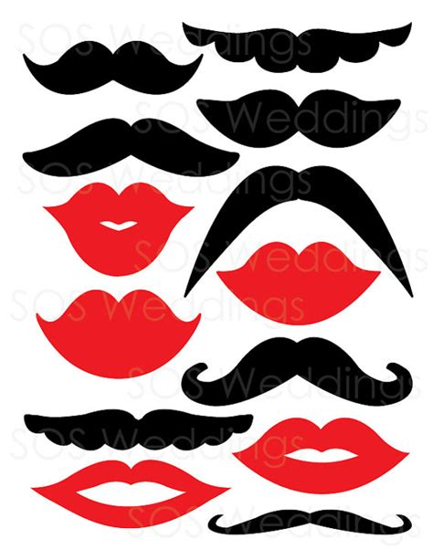 free printable moustache and lips photo booth props mustaches and lips photobooth props wedding photo by