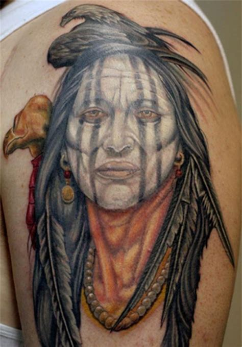 medieval tribal tattoos squaw eagle indian squaw and wolf
