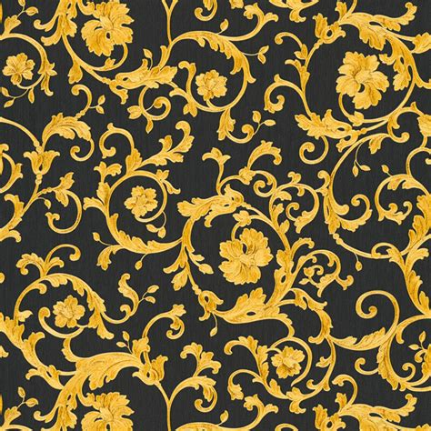 Home Design 3d Gold Free For Iphone versace barocco floral black gold glitter wallpaper 34326 2