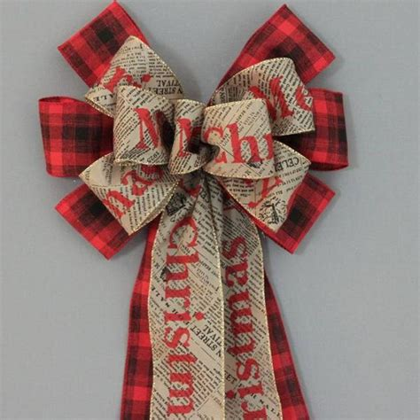 how to best store christmas bows merry newsprint black plaid bow 10 quot package bows