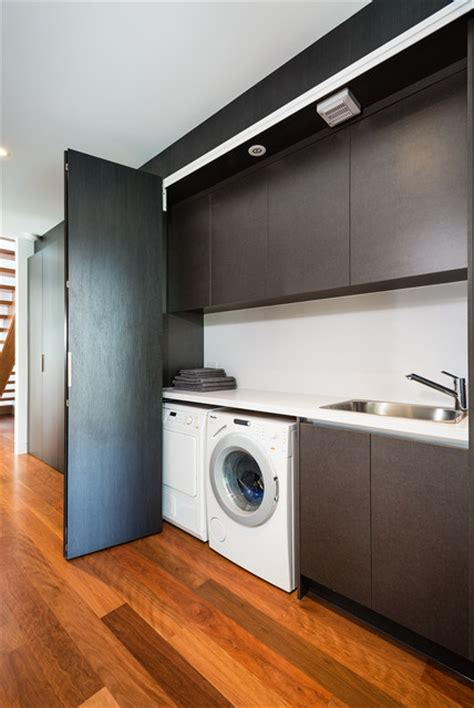 Laundry Cabinets Melbourne by Williamstown Townhouse Project Modern Laundry Room