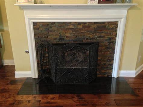 Slate For Fireplace by Slate Fireplace Split Mosaic