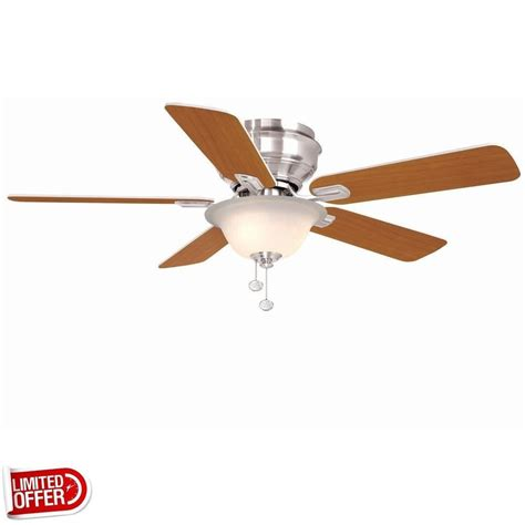 hton bay hawkins 44 ceiling fan sale hton bay hawkins 44 inch brushed nickel ceiling