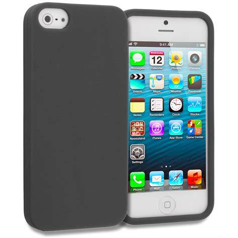 Casing Iphone 5g 1 color silicone gel rubber soft skin cover accessory for apple iphone 5 5g ebay
