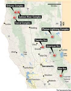 fires in northern california map crews continue to battle wildfires in nothern california