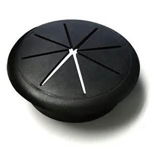 2 3 8 quot desk grommet color black 10 pack