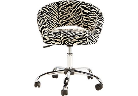 zebra pattern desk healy zebra desk chair desk chairs