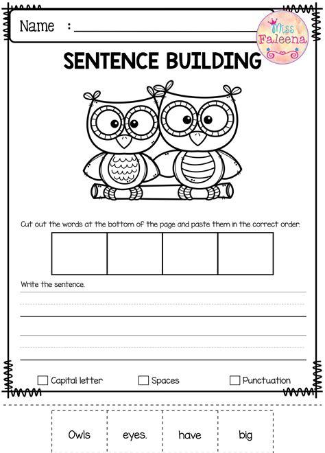 august sentence building all kindergarten tpt