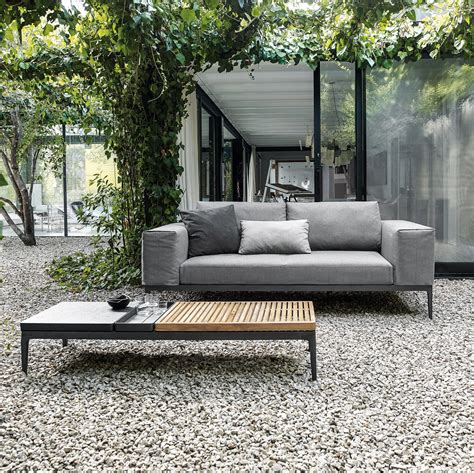 grid centre unit garden sofas from gloster furniture