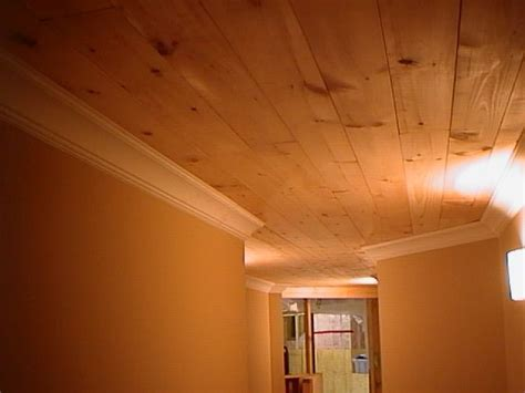Pine Plank Ceiling by Planked Wood Ceiling