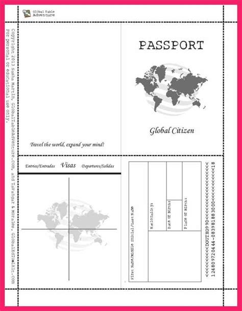 passport template for kids bio letter format