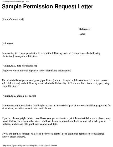 Permission Letter by Dissertation Letter Consent