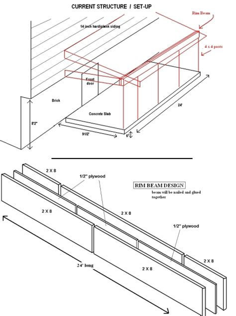 porch blueprints building porch plans find house plans