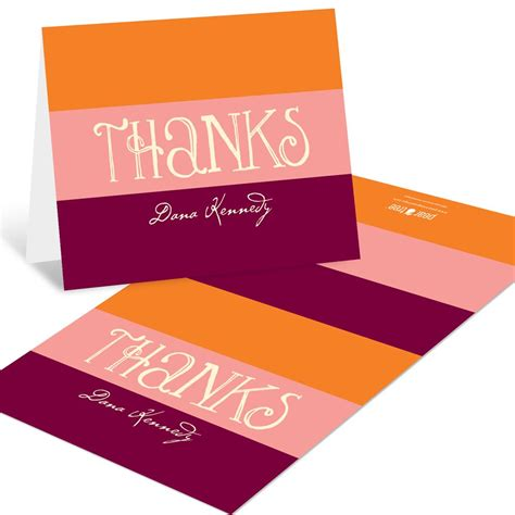 welcoming colors welcoming color block thank you cards custom designs