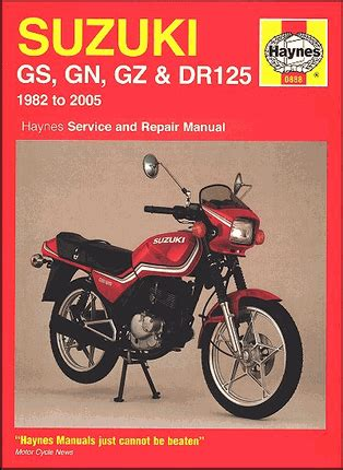 Suzuki Gn125 Manual 1982 2005 Suzuki Gs Gn Gz Marauder Dr 125 Repair Manual