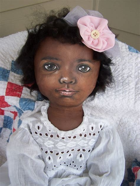 black doll artists 33 quot large artist painted all cloth black cloth doll