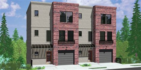Contemporary Townhouse Plans by Town House Plans Modern Beautiful Modern Town House Plans