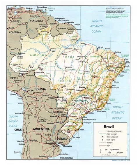 geographical map of brazil map of brazil geography
