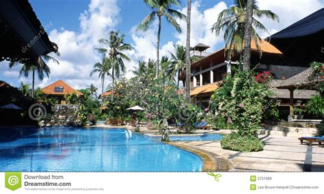 bali resort hotel indonesia stock image image