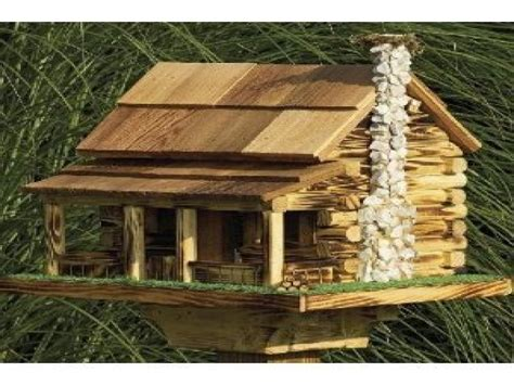 large bird feeder plans log cabin bird house plans log
