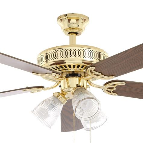 polished brass ceiling fans hton bay landmark plus 52 in polished brass ceiling