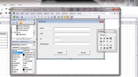 tutorial excel indonesia bagian 5 membuat aplikasi form dengan ms excel bagian 2 youtube