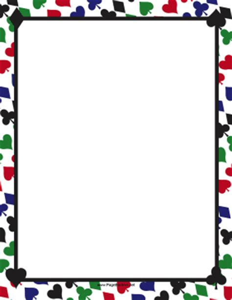 card borders colorful card suites border